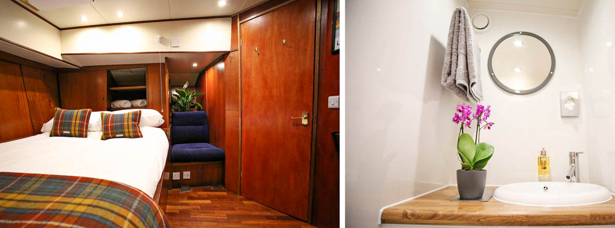 Accommodating up to eight guests in four private en-suite cabins.